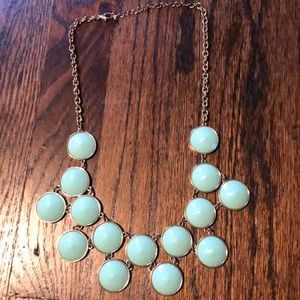 Mint JCrew Bauble Necklace